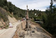 Obras en la carretera de Burunchel a El Palomas.