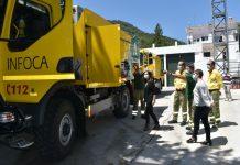 Presentación del nuevo camión anti incendios del plan Infoca.