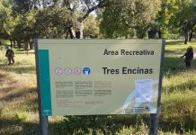 Área recreativa Tres Encinas.