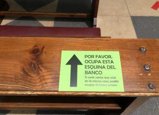 Uno de los carteles de información en una iglesia de Jaén.