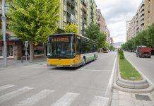 Autobús Castillo en Avenida de Andalucía. FOTO: Peragón