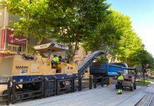 Obras en Paseo de la Estación. FOTO: Peragón