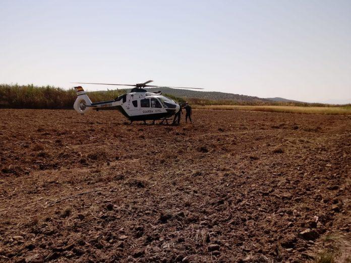 Dispositivo de búsqueda del hombre desaparecido en Arjona. FOTO: Subdelegación