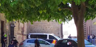 Policías que participan en la operación antidroga de Úbeda. FOTO: HoraJaén