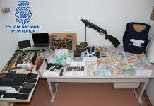 Material incautado por la Policía al clan de los Pikikis.