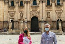 Salud Anguita y Manuel Ureña, concejales de Vox Jaén en el ayuntamiento de la capital.