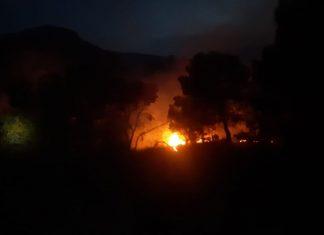 Incendio forestal en Belmez de la Moraleda. FOTO: Infoca