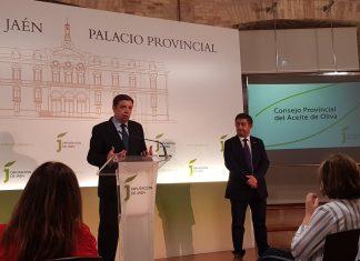 Luis Planas ofrece una rueda de prensa previa al Consejo Provincial del Aceite de Oliva.
