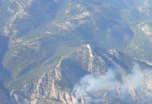 Incendio forestal en Hinojares. FOTO: Infoca