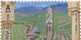 Sello de Correos de Jaén de la campaña 12 meses, 12 sellos.