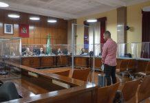 El acusado de maltratar a Fany durante el juicio. FOTO: Peragón