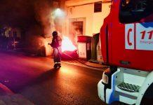 Incendio de un contenedor de basura en Jaén.