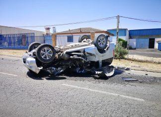 Así ha quedado el vehículo tras la colisión. FOTO: Policía Local de Mancha Real