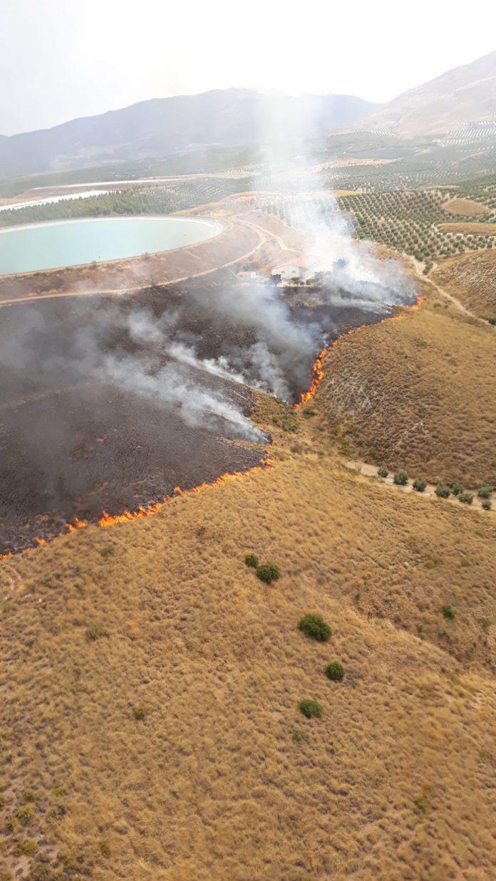 Incendio forestal en Jódar.
