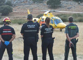 Equipos de emergencias que actuaron en el rescate de una mujer. FOTO: Subdelegación del Gobierno