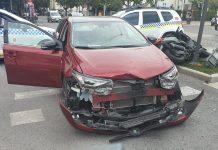 Vehículos tras el accidente ocurrido en Paseo de la Estación. FOTO: HoraJaén