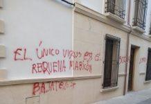 Pintadas vandálicas en Navas de San Juan.