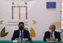 Juan Marín, durante el acto de presentación de proyectos en el museo Íbero de Jaén