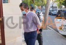 Llegada al juzgado de Jaén del presunto asesino de su hermana. FOTO: HoraJaén