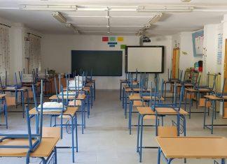 Aula en el colegio La Misericordia de Torreperogil.